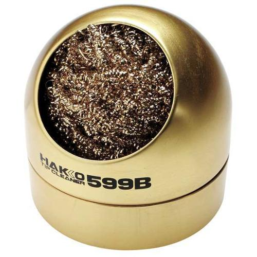 HAKKO Tip Cleaner,Soft,Bronze,Brass,S, 599B-02