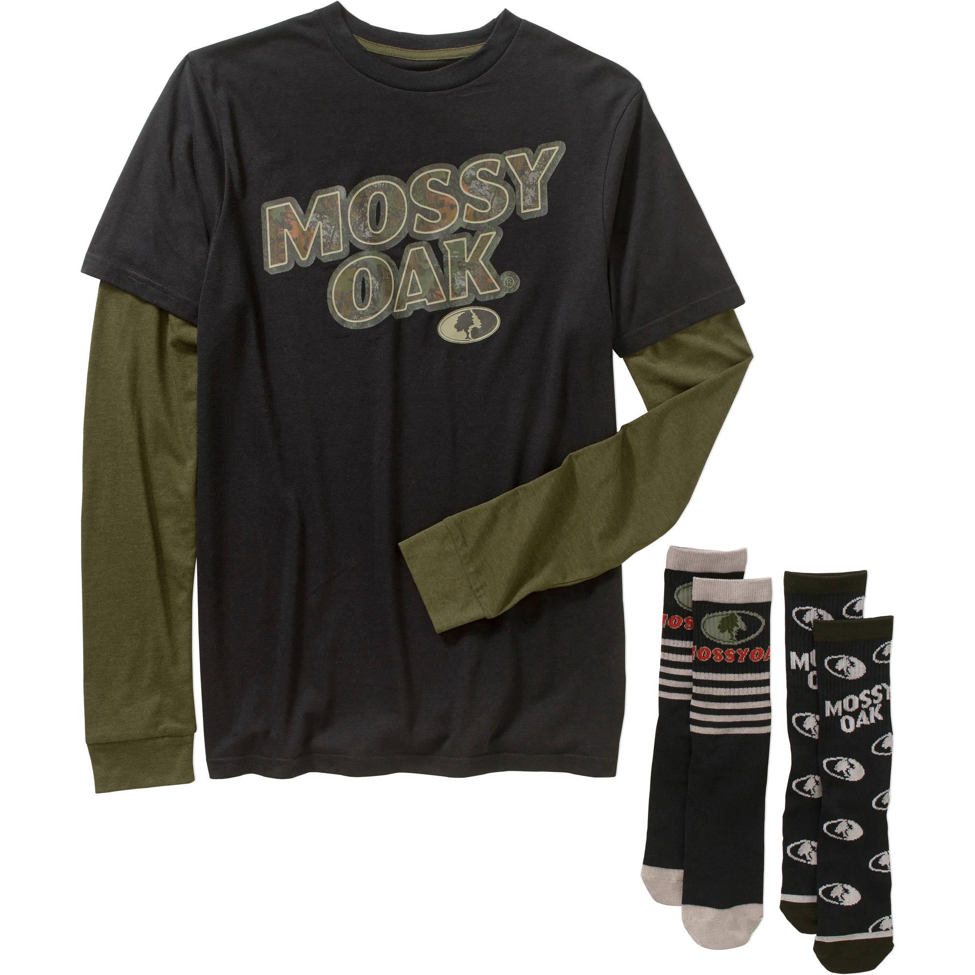 Mossy Oak Men's Combo Shirt & Socks