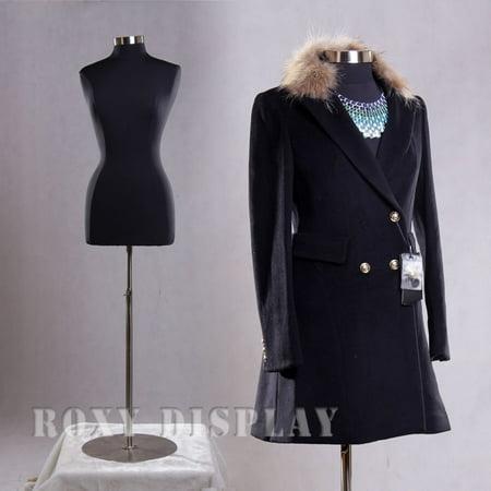 Black Female Medium Size 10-12 Mannequin Dress Body Form #F10/12BK+BS-04 - Dresses 10-12