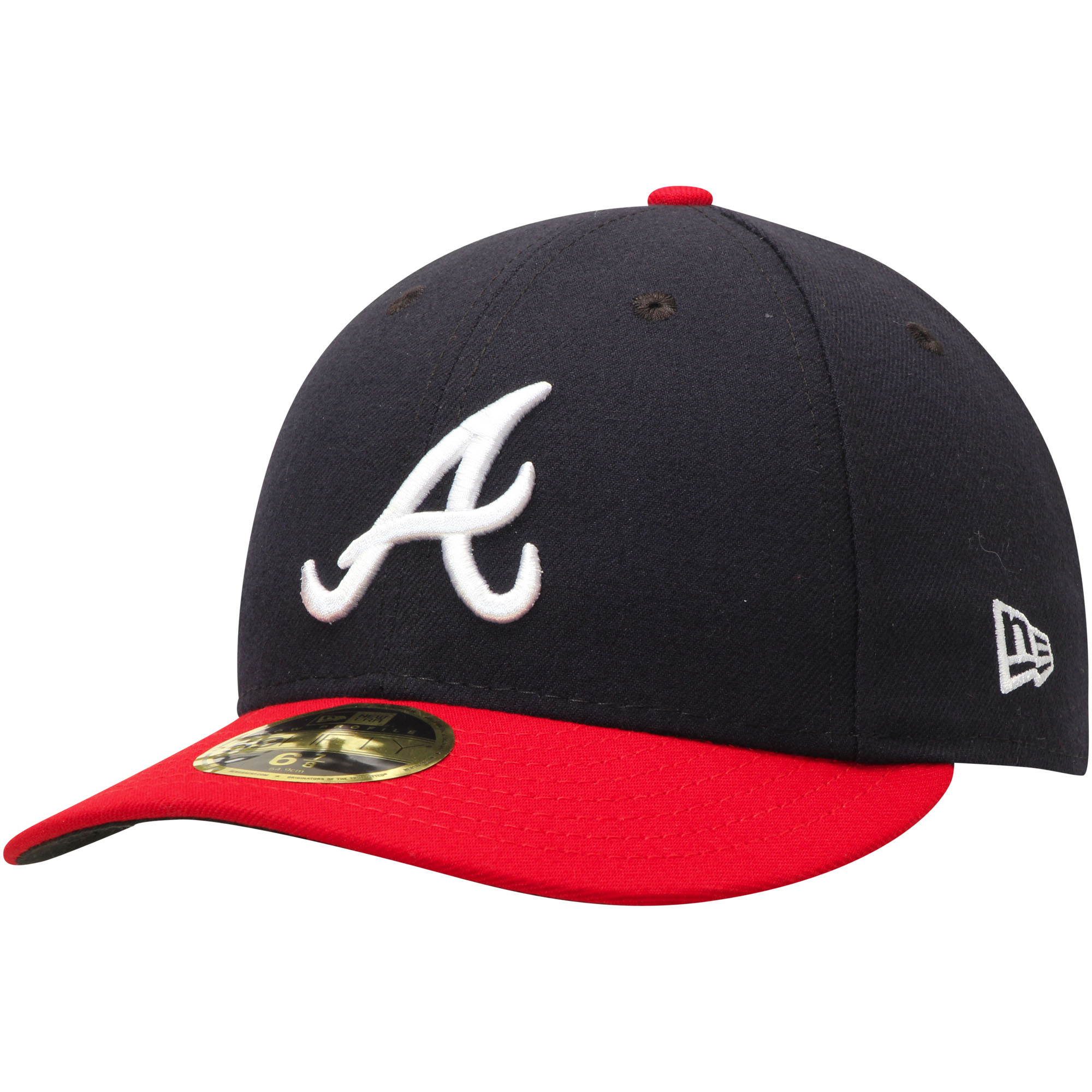 Atlanta Braves New Era Home Authentic Collection On-Field Low Profile 59FIFTY Fitted Hat - Navy/Red
