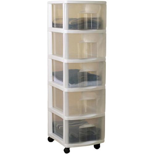 HOMZ Medium 5-Drawer Cart