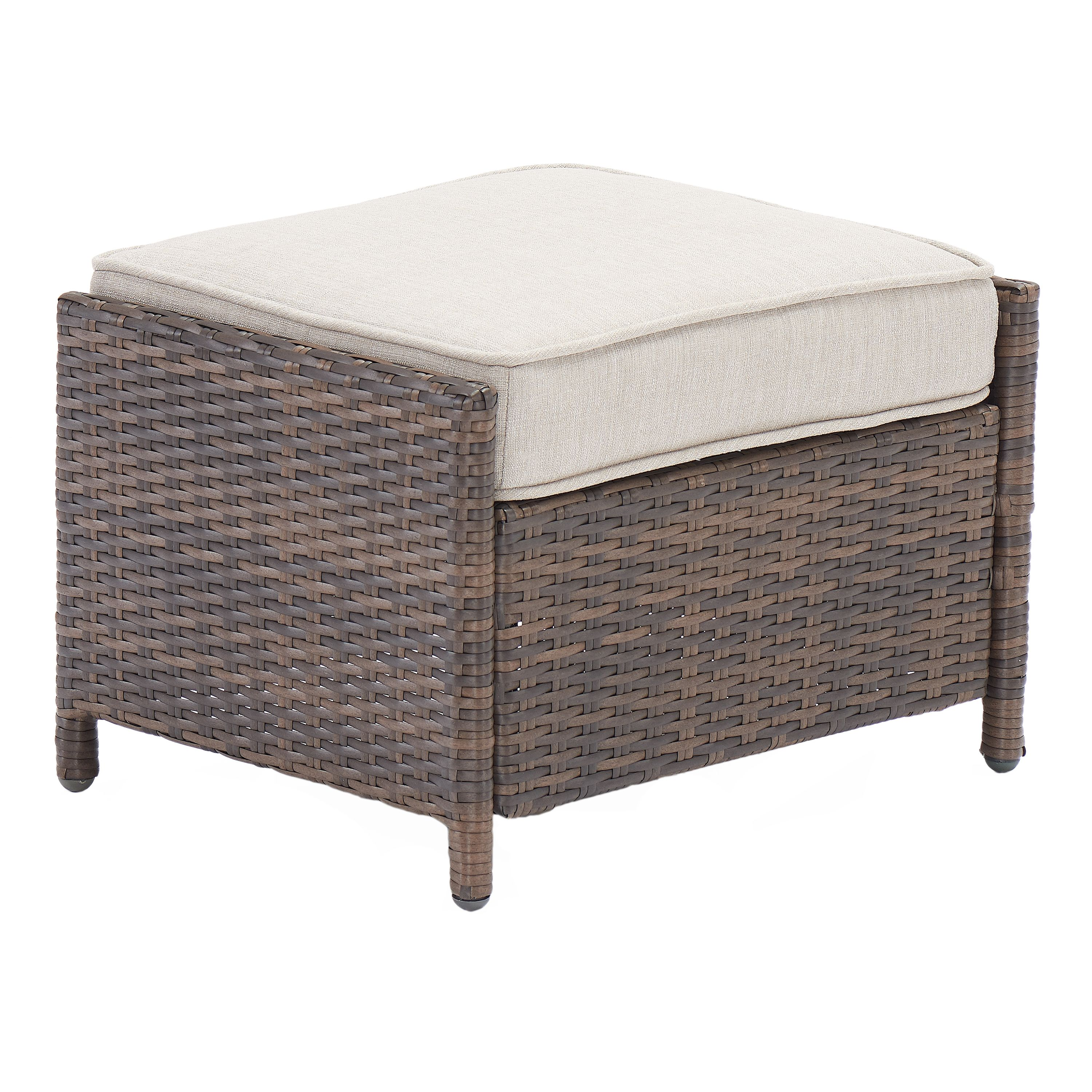 Better Homes & Gardens Mayers Bay 2-Piece Ottoman Set with Tan Cushions