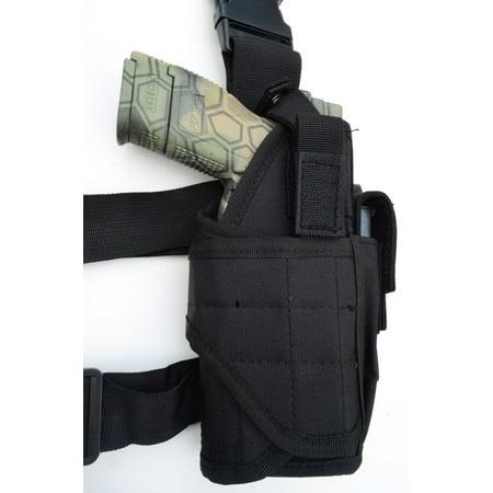 Tactical Leg Thigh Gun Pistol Holster or Open Carry Belt Duty Holster BLACK - Gun Holster Garter Belt