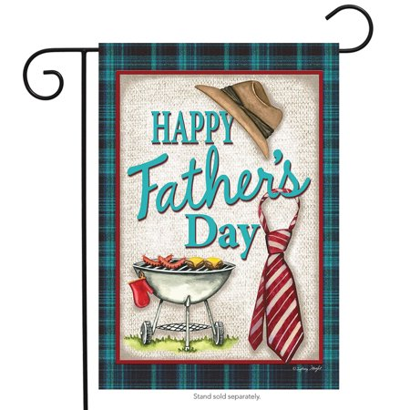 Happy Father's Day Grillin' Garden Flag Hat and Tie Holiday 12.5