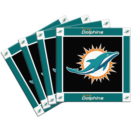 NFL Miami Dolphins 4-Pack Ceramic Coasters by