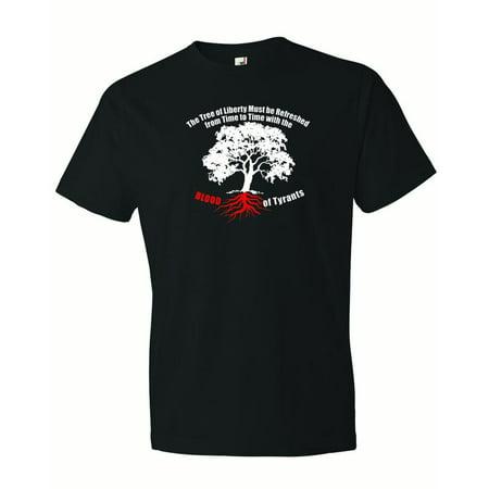 6a7859888ccd CPT - Men s Blood Of Tyrants Tree Of Liberty Thomas Jefferson T-Shirt-Black-2X  - Walmart.com