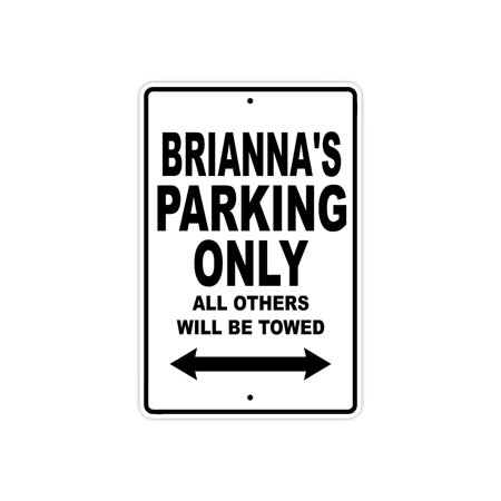 Boston Red Sox Parking Sign (Brianna's Parking Only All Others Will Be Towed Name Gift Novelty Metal Aluminum 8