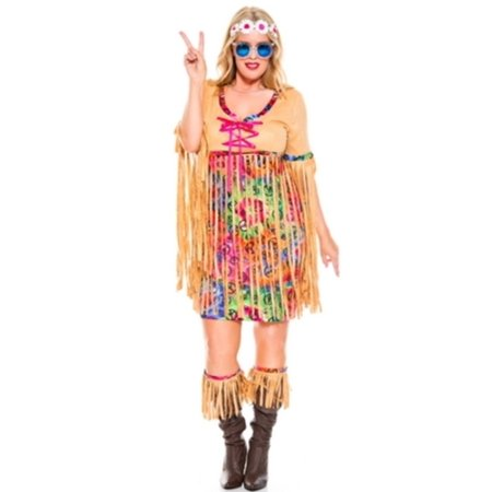 Queen Retro Hipster Costume Music Legs 70806Q Multi Color - Music Costumes Ideas