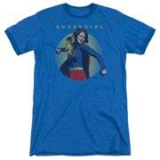 Supergirl Classic Hero Mens Adult Heather Ringer Shirt