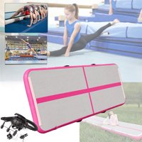 Inflatable air Track mat Gymnastics airtrack with Electric Air Pump for Practice Gymnastics, Yoga,Kid Safty mat,Tumbling,Parkour, Home Floor and Martial Arts