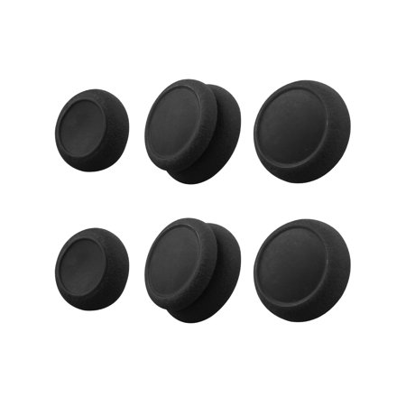 Analog Joystick Cap, Skin Grip, CQC and FPS Thumb Grips Set for Nintendo Switch 3 Pairs (6Pcs) Black/Red Blue