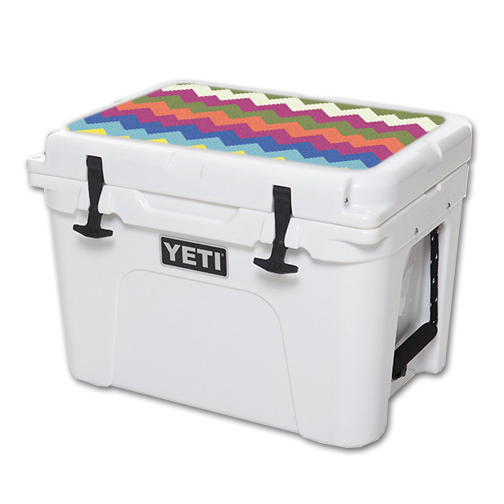 MightySkins Protective Vinyl Skin Decal for YETI Tundra 35 qt Cooler Lid wrap cover sticker skins Earth Chevron