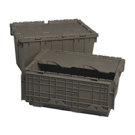(QUANTUM STORAGE SYSTEMS Attached Lid Container,1.17 cu ft,Gray QDC2012-7)