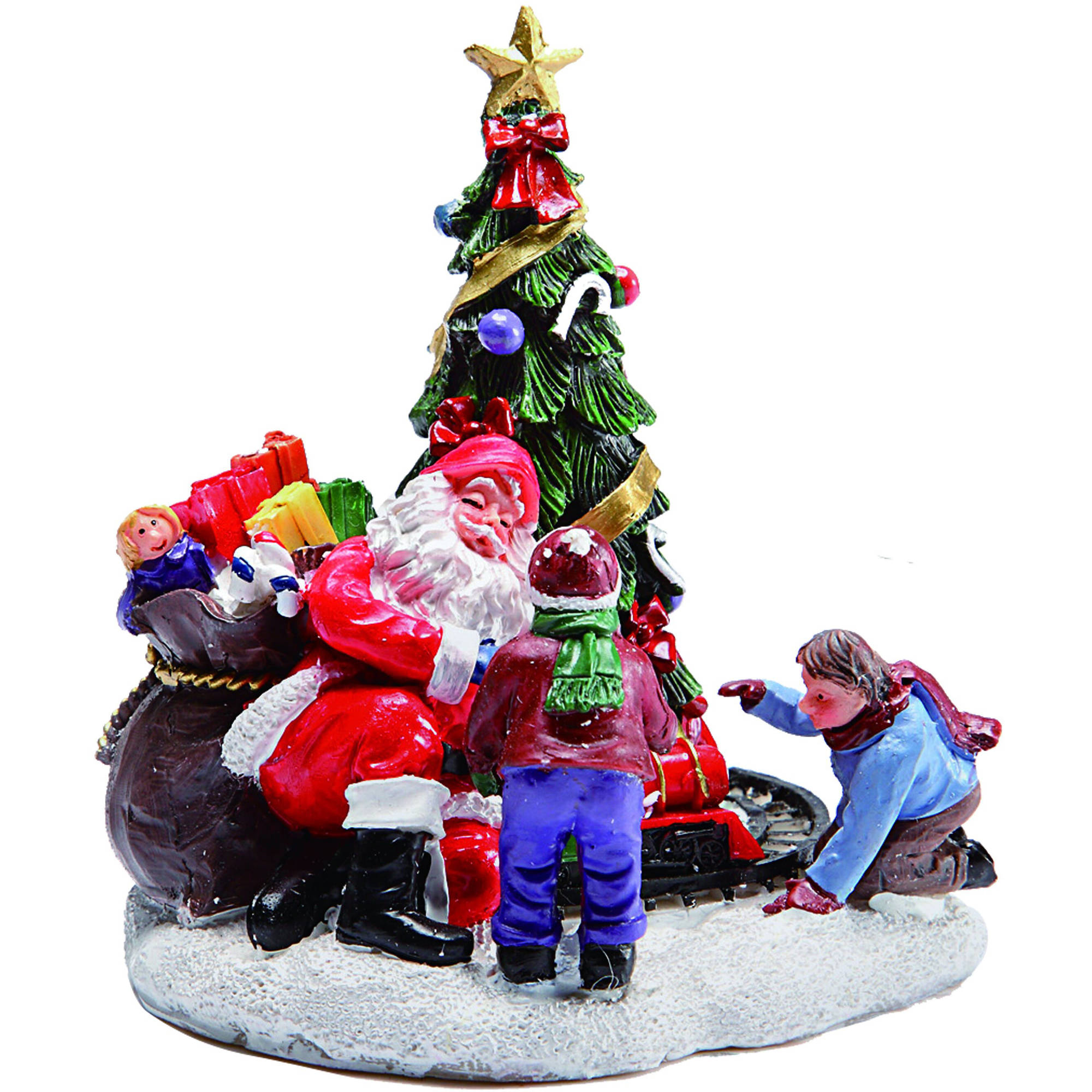 "Holiday Time 3.75"" Christmas Village Giving Gifts Figurine"