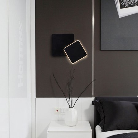 Creative Bedside Wall Lamp LED Wall Lamp Home Decor Modern Square Lamp Light - image 4 of 8