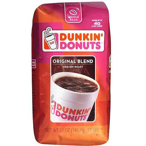 Dunkin' Donuts Original Blend Medium Roast Coffee Beans, 12 oz