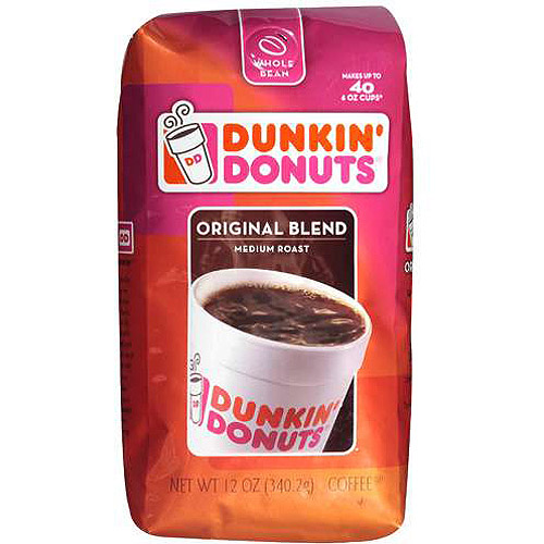 Dunkin' Donuts Original Blend Medium Roast Coffee Beans, 12 oz
