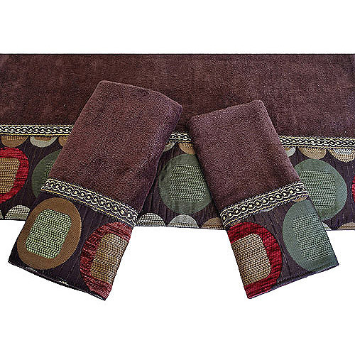 Easy Living Metro Brown 3-Piece Decorative Towel Set