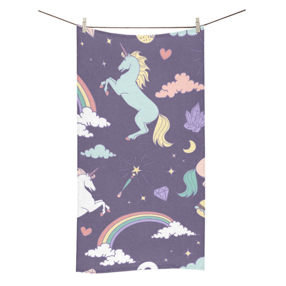 Unicorn Personalised Towel Washcloth Face Washer Cleaning Cloth