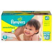 Pampers' Swaddlers Diapers Size 5 - 116 ct. ( Weight 27+ lb.) - Bulk Qty, Free Shipping - Comfortable, Soft, No leaking & Good nite Diapers