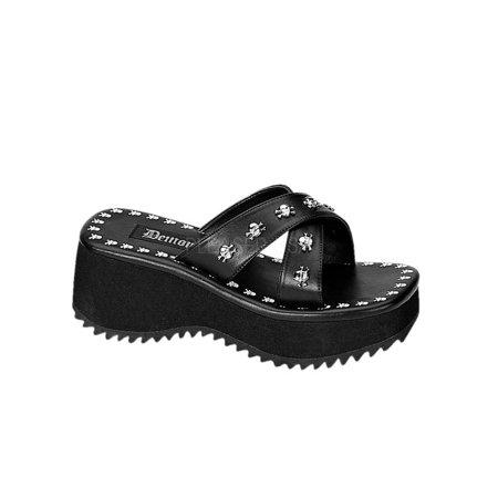 b08f2c60a09 Demonia - FLIP05 B PU Demonia Platform Sandals   Shoes Womens BLACK Size   12 - Walmart.com