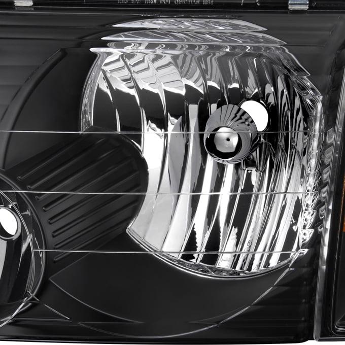 Fit 2002 2003 2004 2005 Ford Explorer Black Headlights+Corner Signal Lights