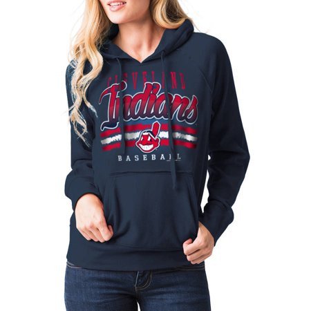 MLB Cleveland Indians Womens Fleece Pullover Graphic Hoodie by