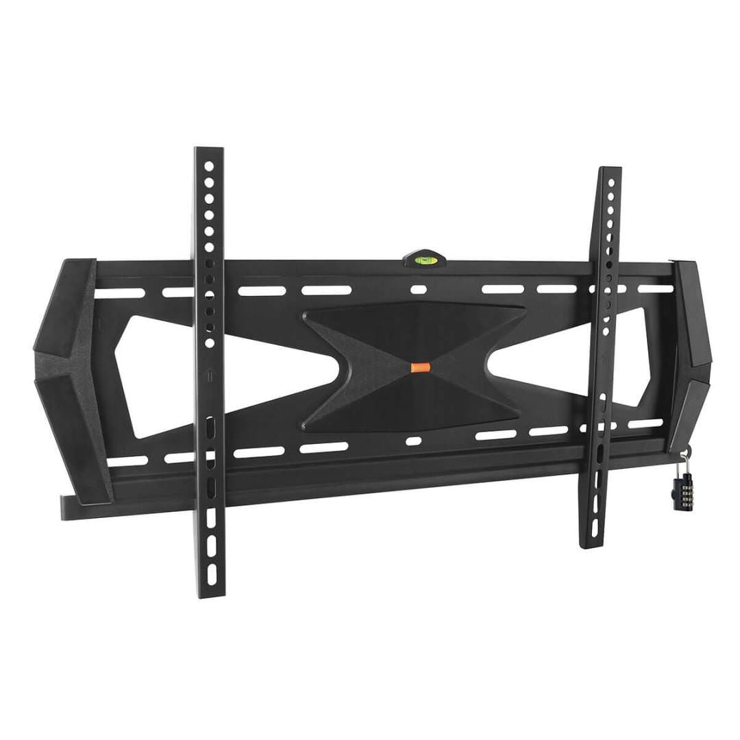 "Heavy-Duty Fixed Security Wall Mount for 37"" to 80"" TVs and Monitors, Flat or Curved Screens, UL Certified"