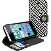 Macbeth Apple iPhone 5C Wallet Clutch Case, Black/White