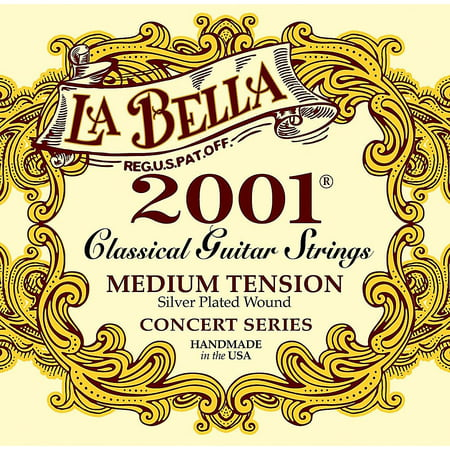 LaBella 2001 Medium Tension Classical Guitar Strings Classical Guitar Strings Tie End
