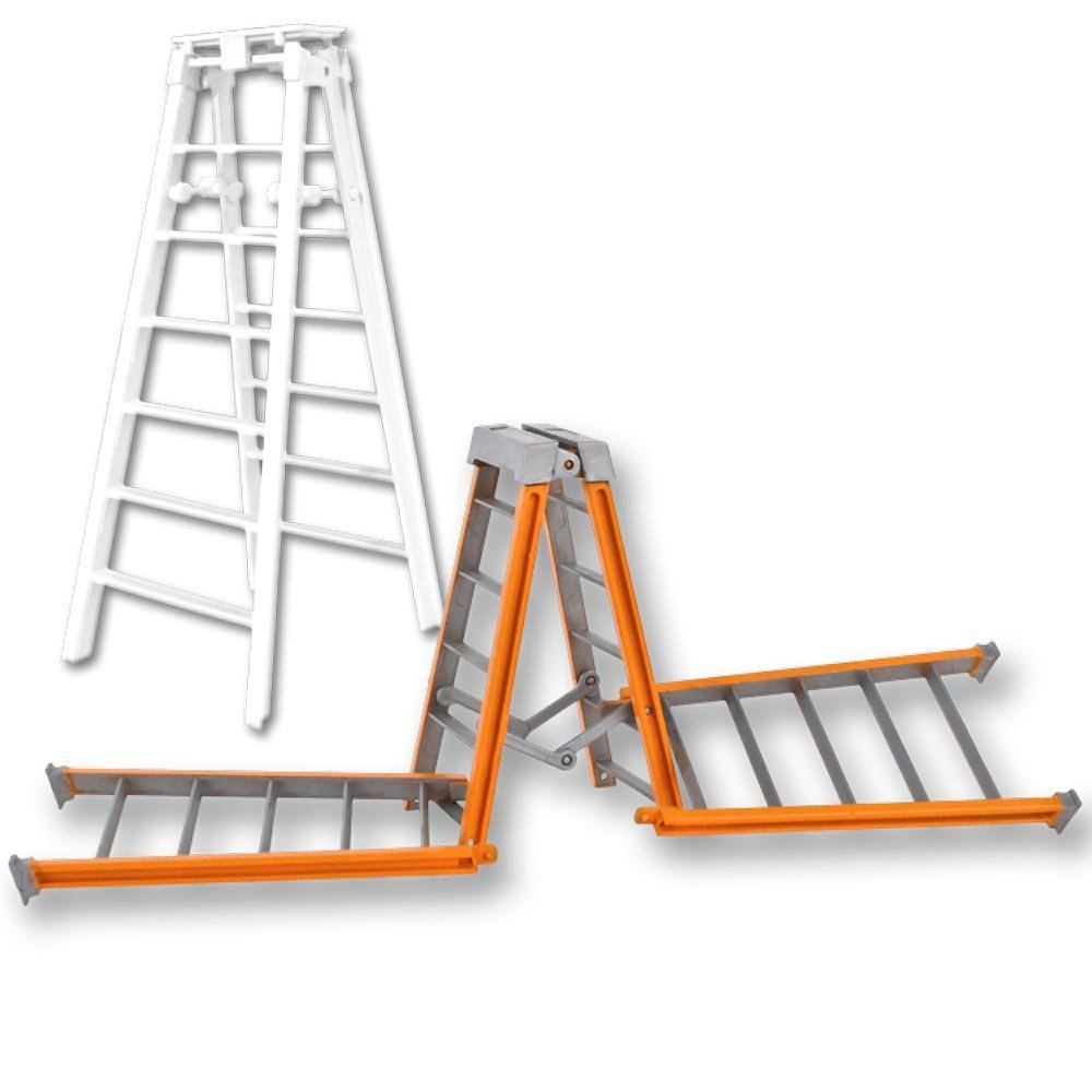Special Deal: One 10 Inch Orange Breakable & One 7 Inch Regular White Ladder for WWE Wrestling Action Figures