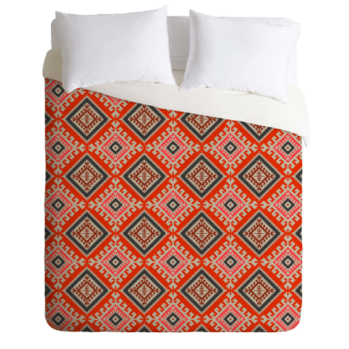Deny Designs Bohemian Farmhouse Geo Bedding Holli Zolling Duvet Cover