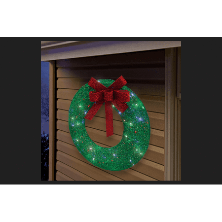 Sylvania Illuminet Wreath LED Yard Art Green Mesh 1 pk