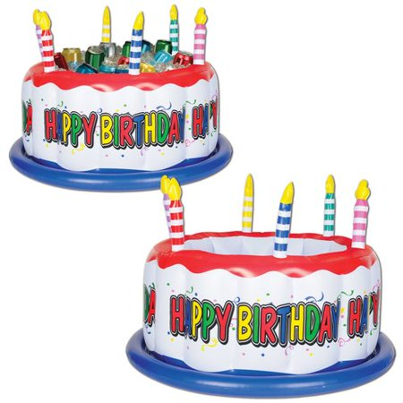 The Beistle Company 24 Can Inflatable Birthday Cake Cooler