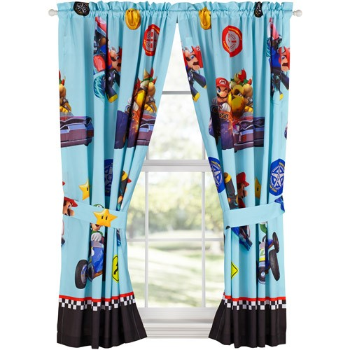 Mario 'Rev Your Engines' Boys Bedroom Curtains