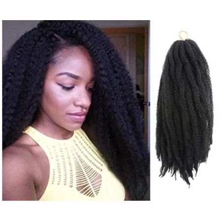 Afro Kinky Twist Hair Crochet Braids Ombre Marley Braid Hair 18inch