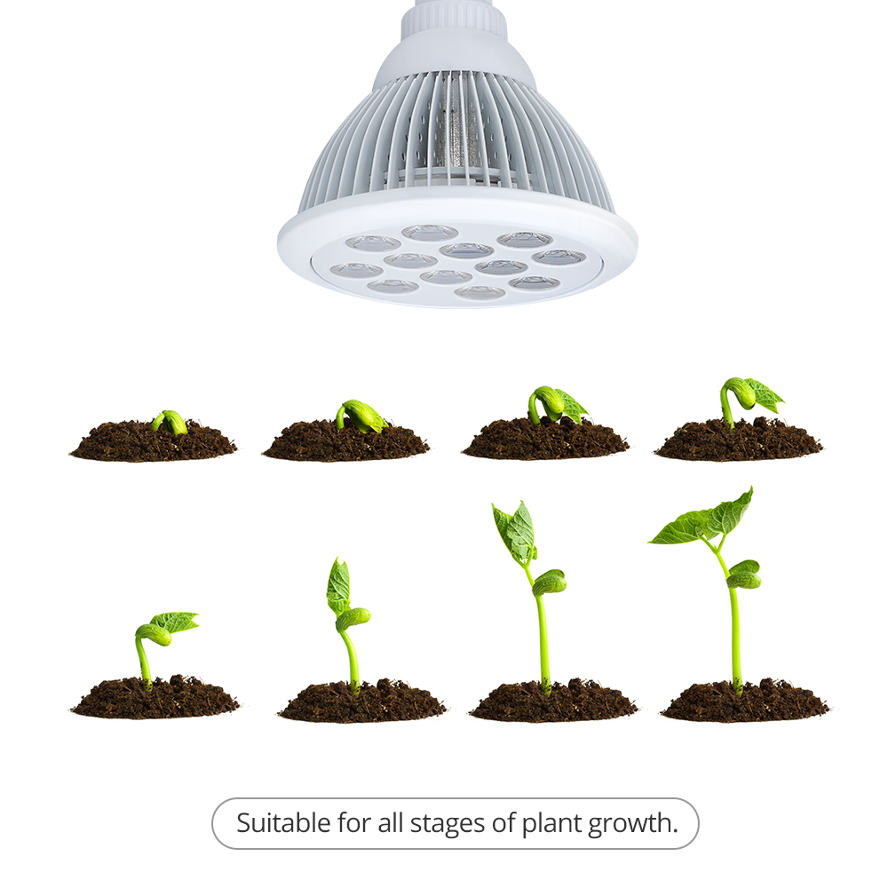 Victsing 36w Led Plant Growing Lights E27 Grow Light Bulb For Garden Greenhouse And Hydroponic Indoor Plants 3 Bands Combination