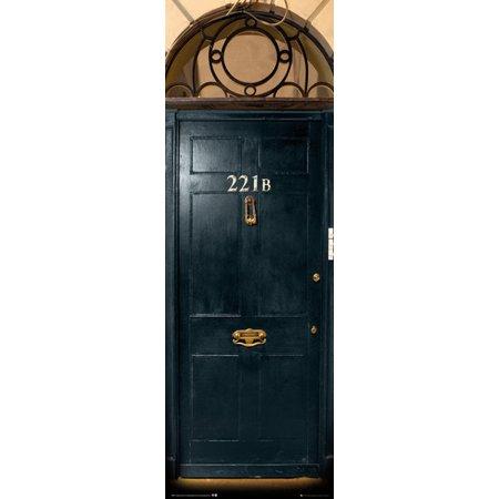 Sherlock   Tv Show Door Poster   Print  Baker Street 221B   Door   Size  21  X 62