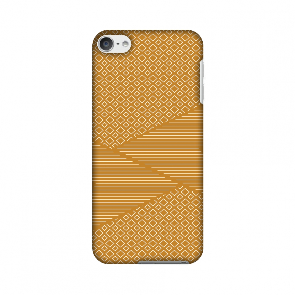 iPod Touch 6th Generation Case, Premium Slim Fit Handcrafted Printed Designer Hard Snap On Shell Case Back Cover for iPod Touch 6th Gen - Carbon Fibre Redux Desert Sand 6