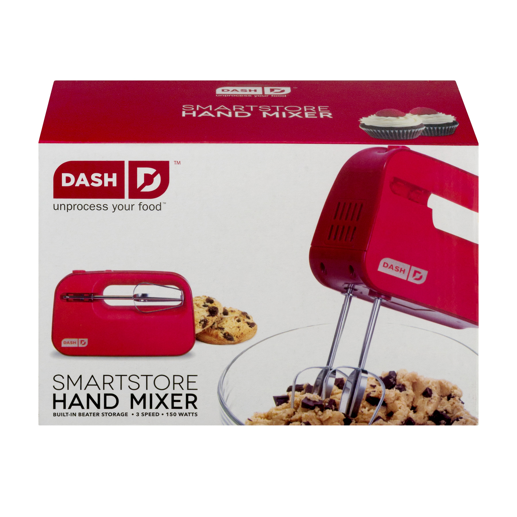 Dash D Smart Store Hand MIxer Red, 1.0 CT