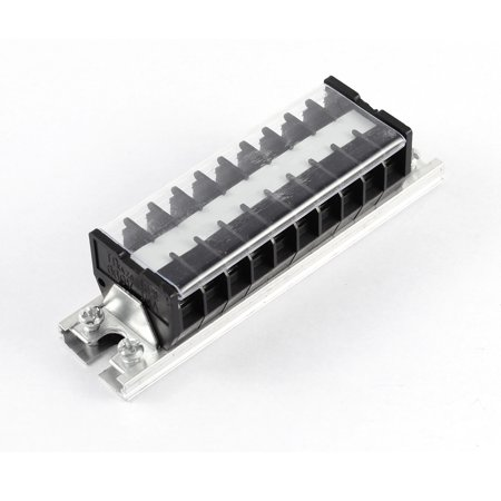600V 15A Dual Row 10 Positions Screw Electric Wire Connection Barrier Terminal - image 2 of 3