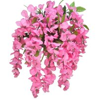 Admired by Nature Artificial Wisteria Hanging Flowers Bush, Pink
