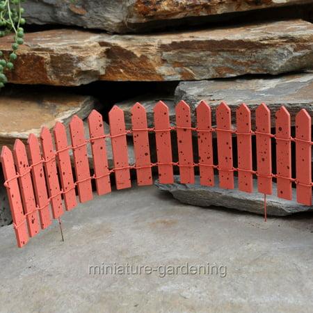 Miniature Cheerful Fairy Fence, Color Options for Miniature Garden, Fairy Garden