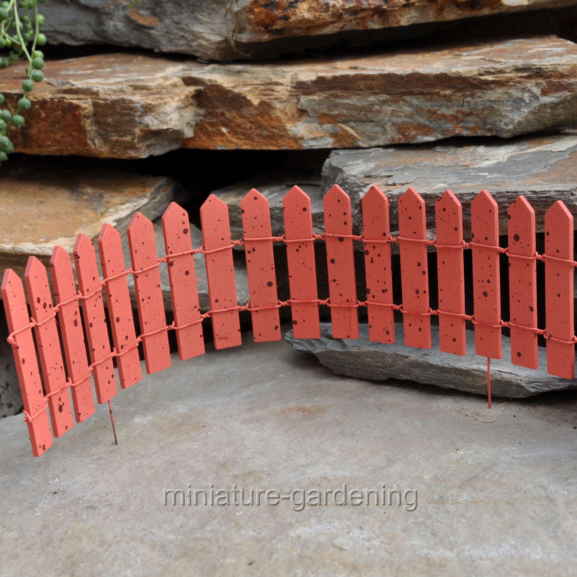 Wholesale Fairy Gardens Cheerful Fairy Fence, Color Options for Miniature Garden, Fairy Garden