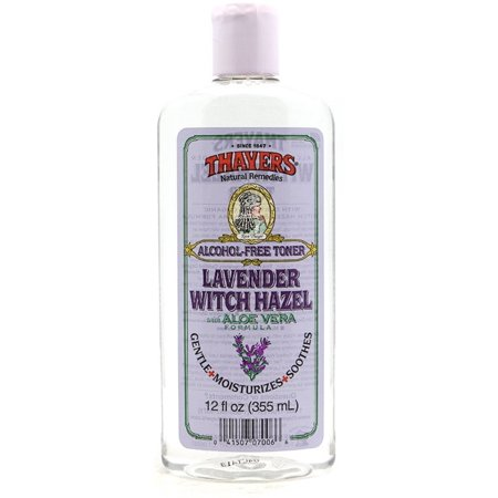 Thayers Alcohol Free Witch Hazel With Organic Aloe Vera Formula Toner  Lavender 12 Oz  Pack Of 2