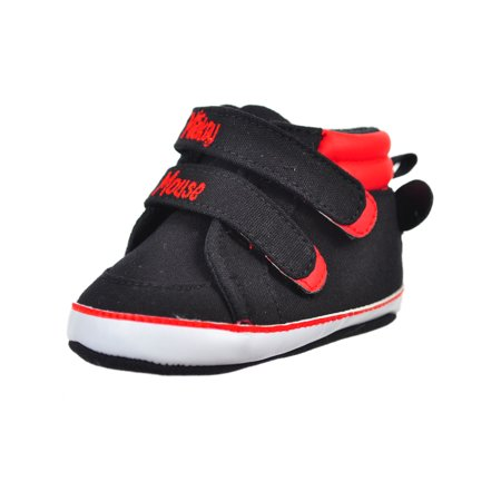 Disney Mickey Mouse Baby Boys' Hi-Top Sneaker Booties Disney Mickey Mouse Shoe