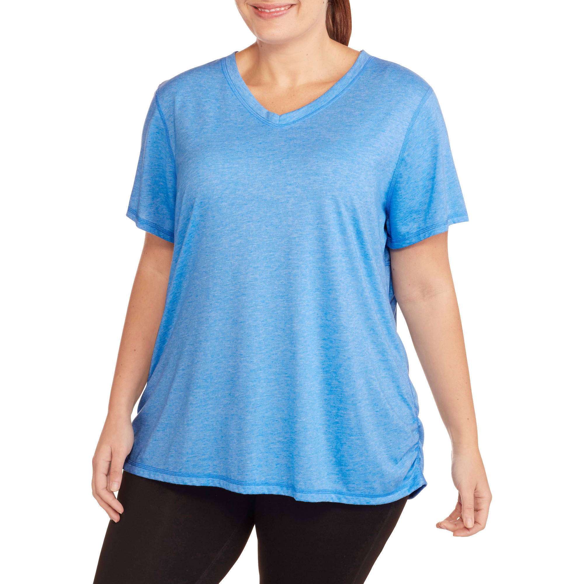 Women's Plus-Size Active Short Sleeve V-Neck Tee