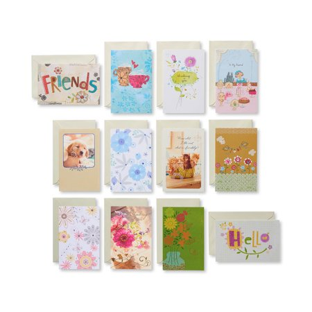 American Greetings 12 Count Love and Friendship Cards and Cream Envelopes, (Love Card Pack)