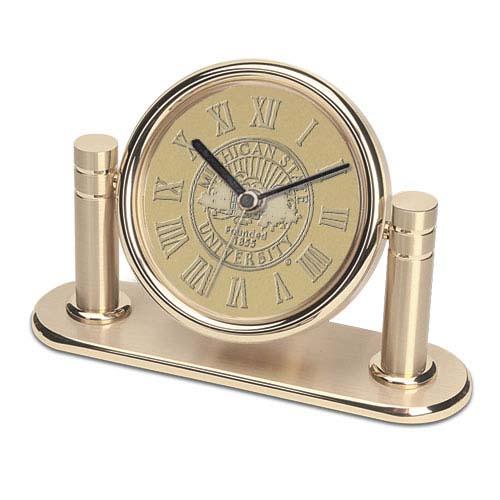 Michigan State Arcadia Desk Clock