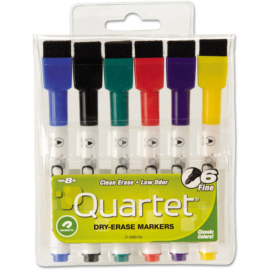 Quartet ReWritables Mini Dry-Erase Markers, 6-Pack